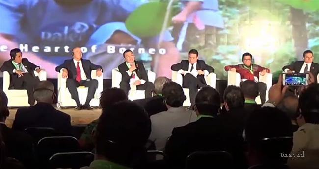 Gubernur Cornelis (nomor 3 dari kiri) saat berbicara di konferensi GCF Task Force, Mexico. Dok
