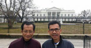 Bersama Prof. Dr. KH. Nasaruddin Umar, MA. di depan Gedung Putih
