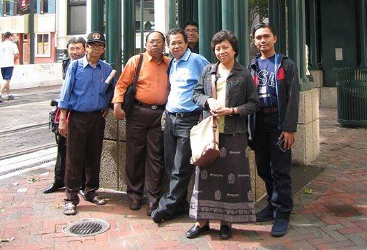Foto bersama pimpinan media Suara Pembaharuan Kompas Waspada Analisa dan Gontor 1