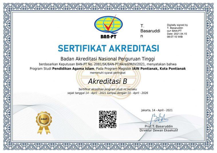 Sertifikat Akreditasi MPAI 2021
